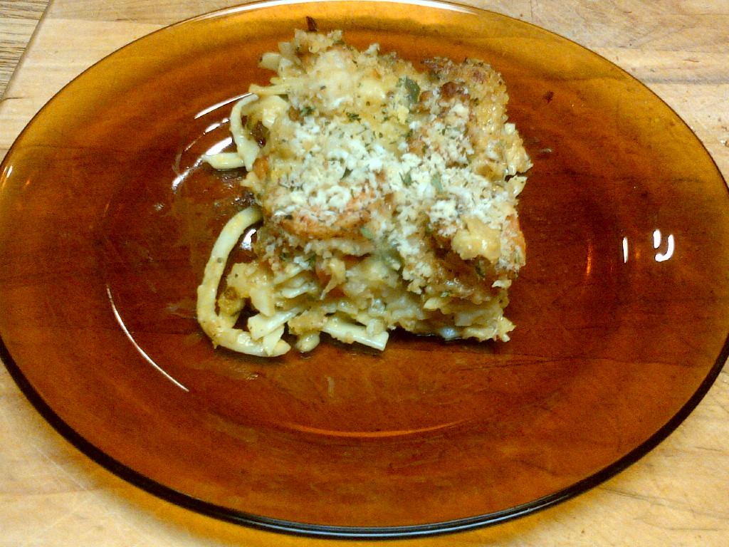 Fettuccine AuGratin with Cajun Seafood
