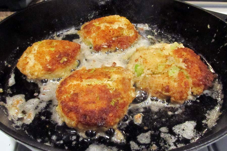 Cooking Crab Cakes on the Second Side