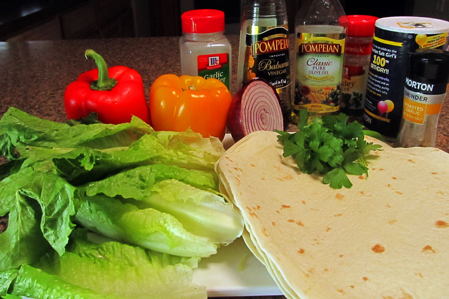 Chiimichurri Steak Wrap Ingredients