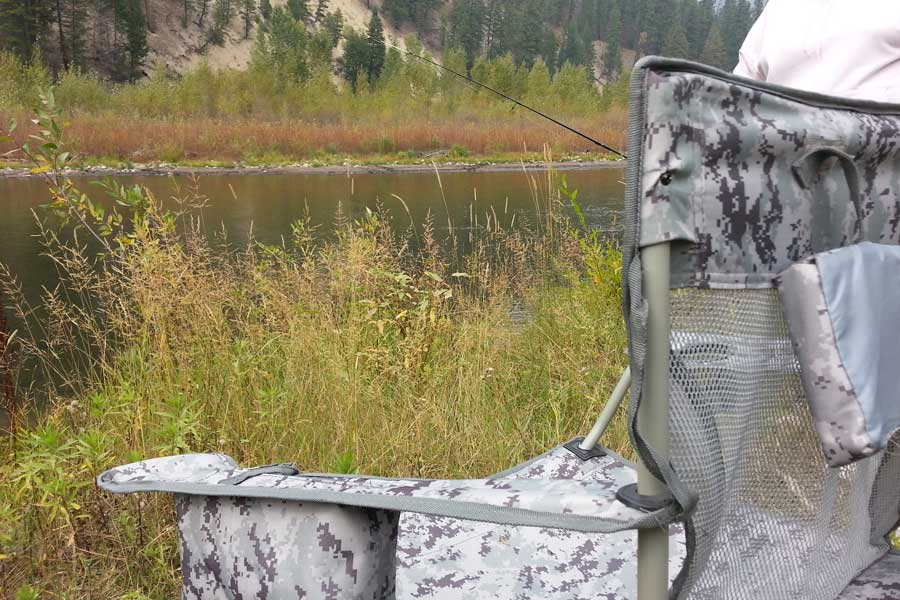 Coleman Chair for Salmon Fishing
