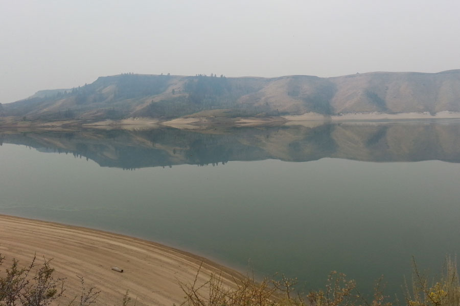 Anderson Ranch Reservoir water reflection