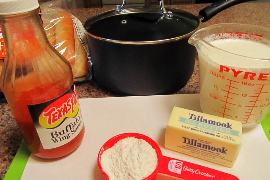 Ingredients for Buffalo Chicken Meatball Sauce