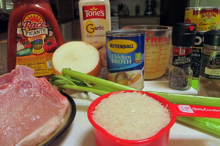 Fiesta Pork Chop Casserole Ingredients