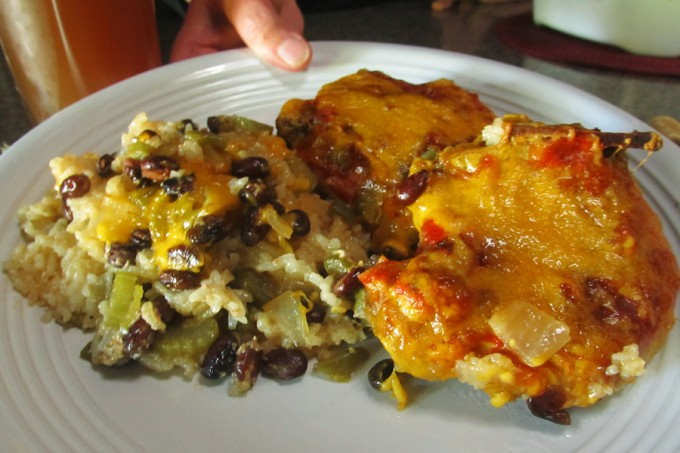 Fiesta Pork Chop and Rice Casserole