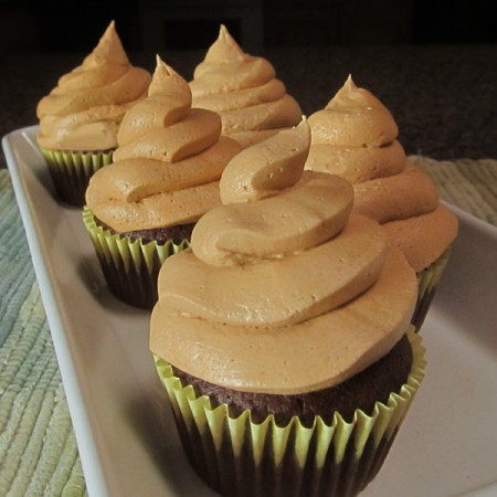Brownie Cupcakes with Dreamy Peanut Butter Frosting